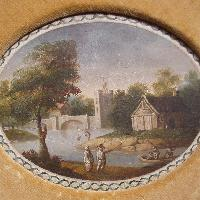 River landscape., English school