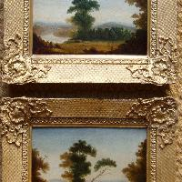 A pair of Italianate landscapes, English school