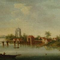 View of Fulham from Putney c. 1735, Thomas Priest of Chelsea
