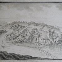 Two views of Chepstow, Monmouthshire, By or after B Lens c. 1770-1830