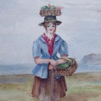 Beaumaris - market girl, Welsh school
