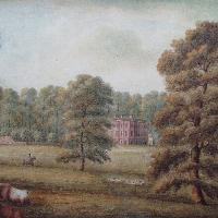 A gentleman riding past a country house, Circle of William Green