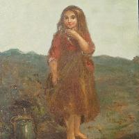 'Welsh Girl at Runel', James John Hill RBA